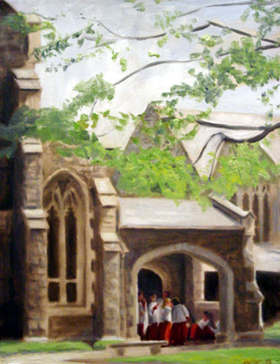 """Christ Church"" on view at the Gertrude White Gallery"