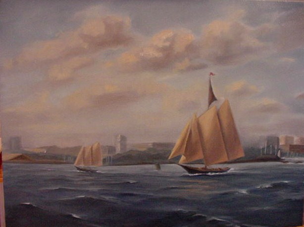 """Tall Ships in Stamford Harbor"""